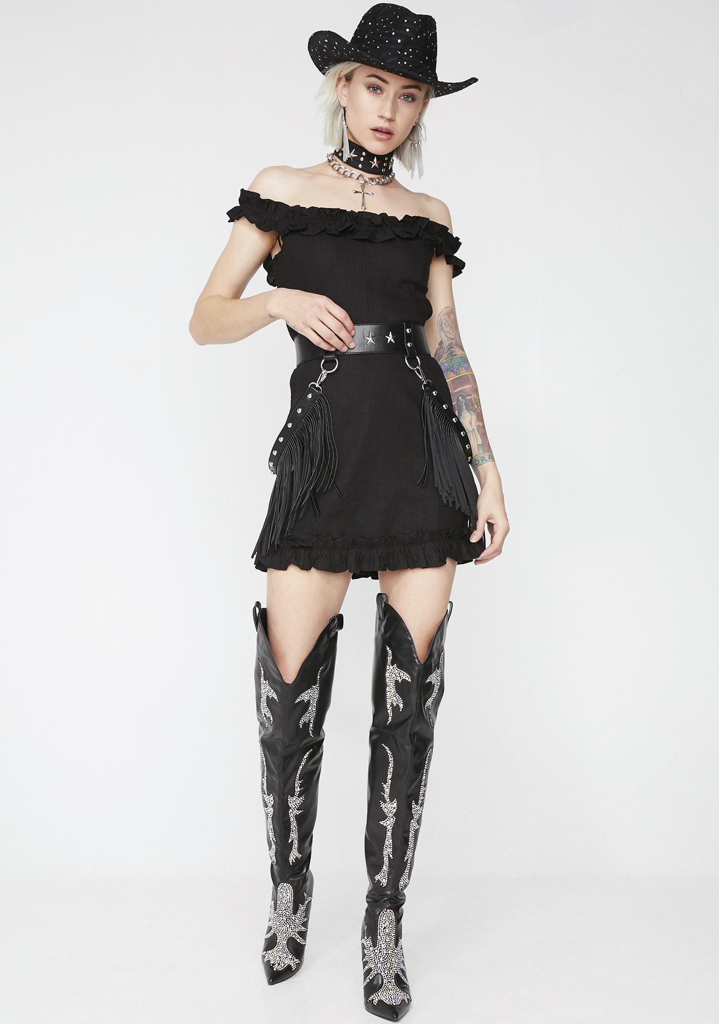 Rock The Rodeo Ruffled Dress