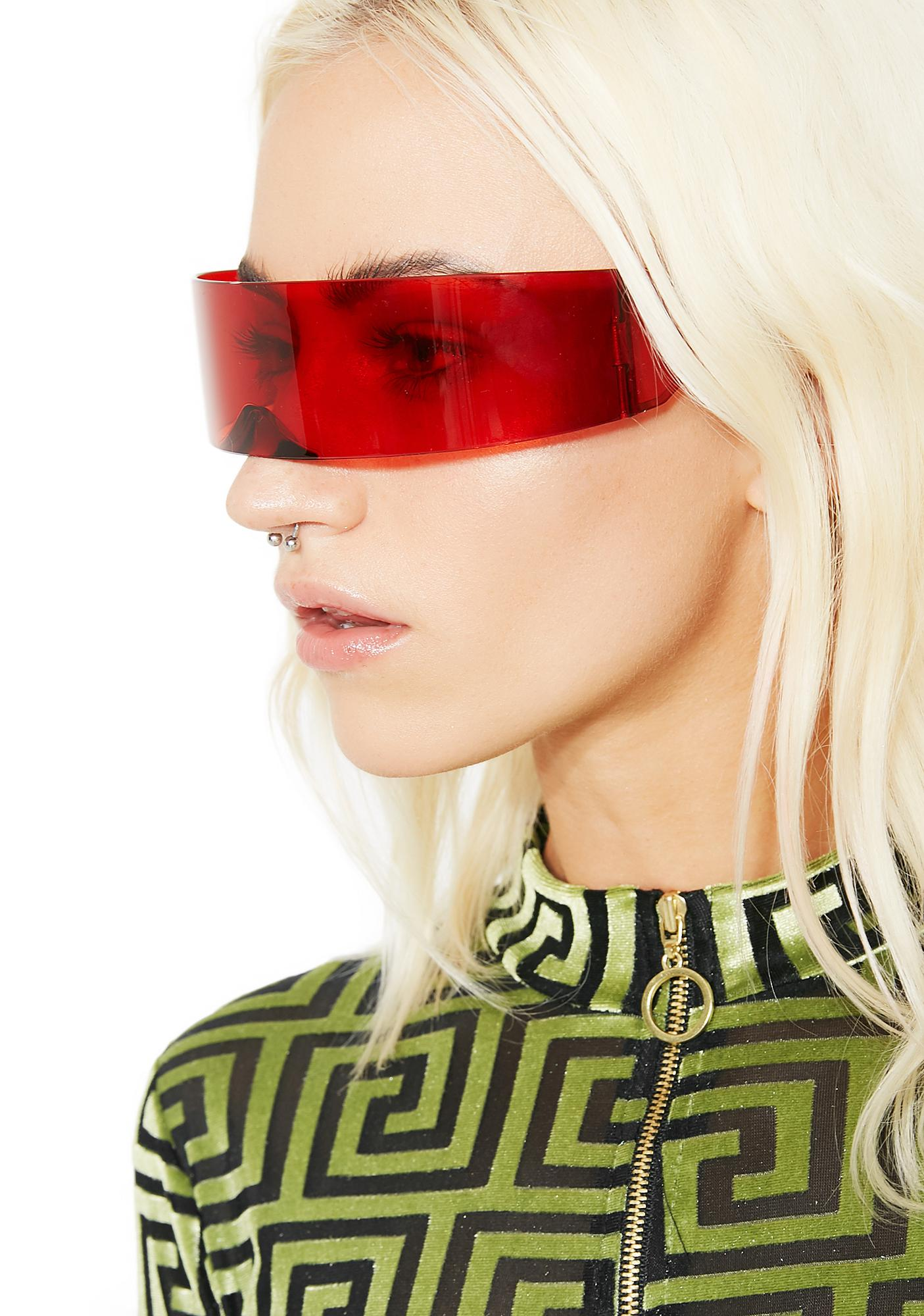 Blood Moon Phase Shield Sunglasses