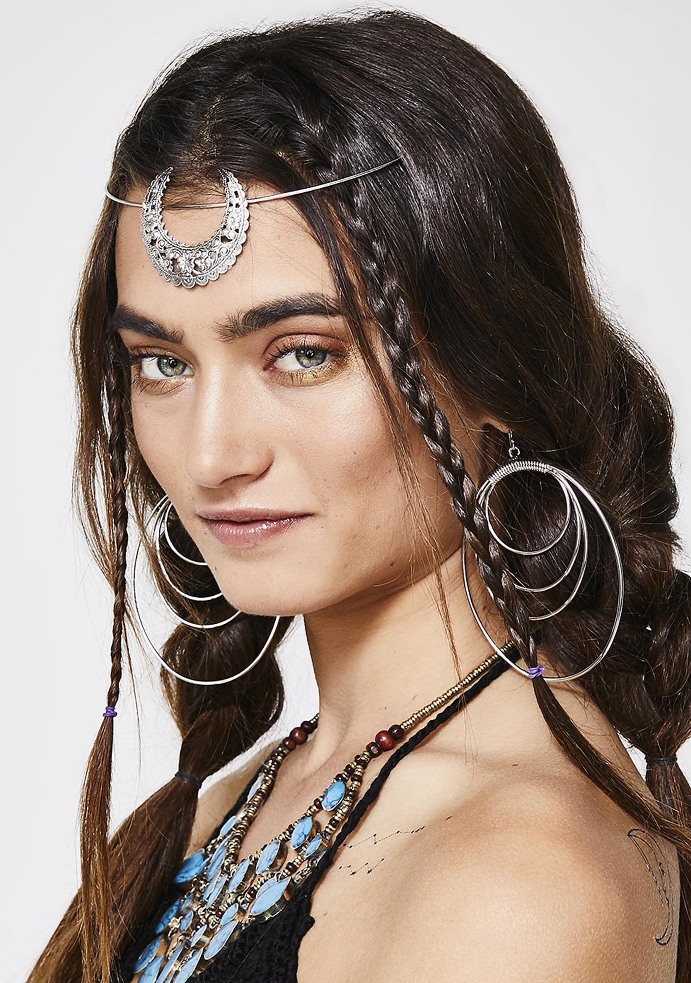 Rock n Rose Chrome Eartha Crescent Tiara Headband