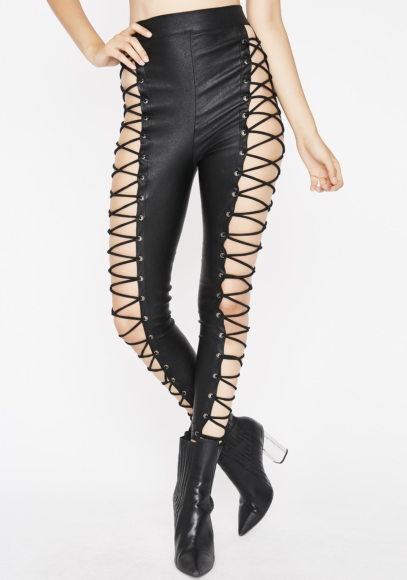 Freaky Thang Lace-Up Leggings