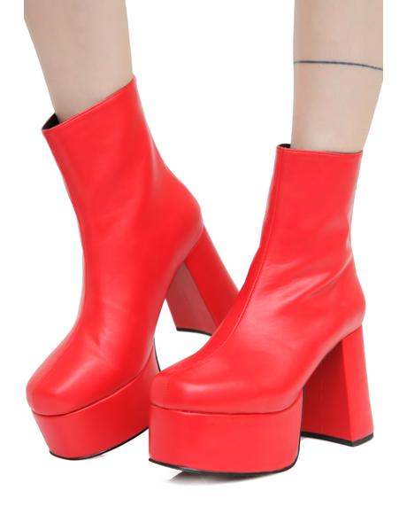 Baby's On Fire Platform Booties