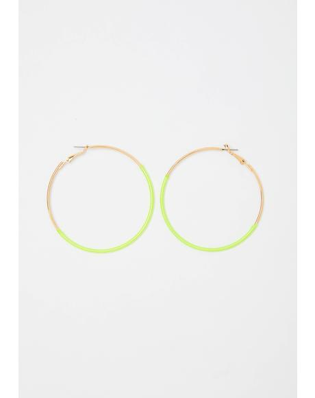 Lil Miss Thang Hoop Earrings