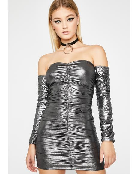 Chrome Rooftop Hoppin' Ruched Dress