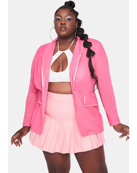 Candy Servin' Class With Sass Mesh Blazer