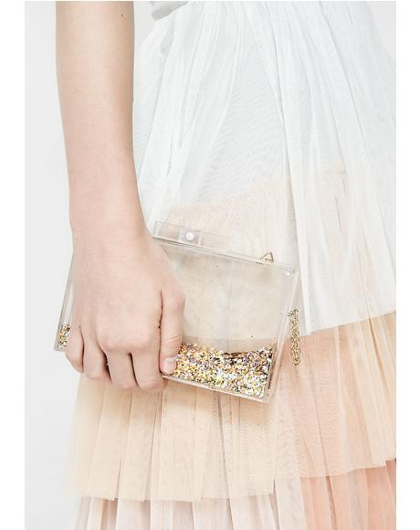 All That Glitterz Clear Clutch