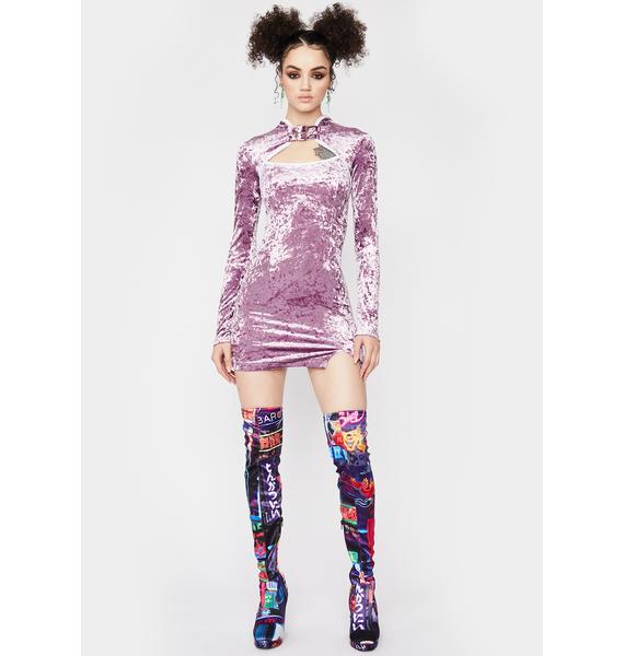 Fairy Dimensional Drip Velvet Dress