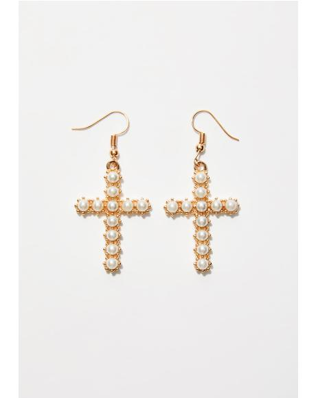 Cross Your Heart Earrings