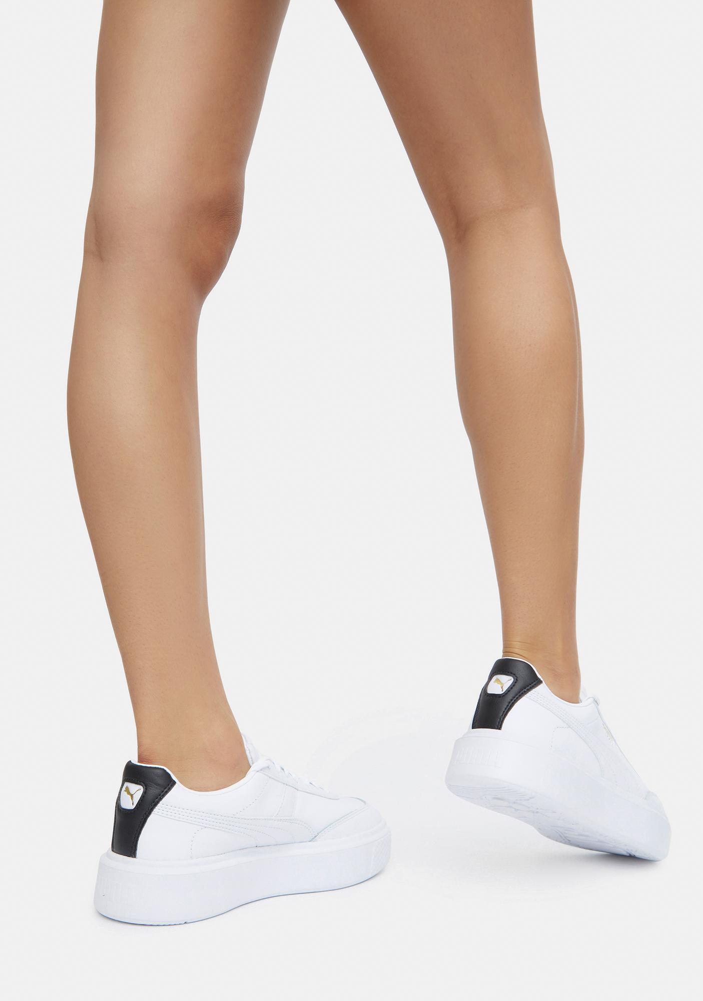PUMA White Oslo Maja Women's Sneakers