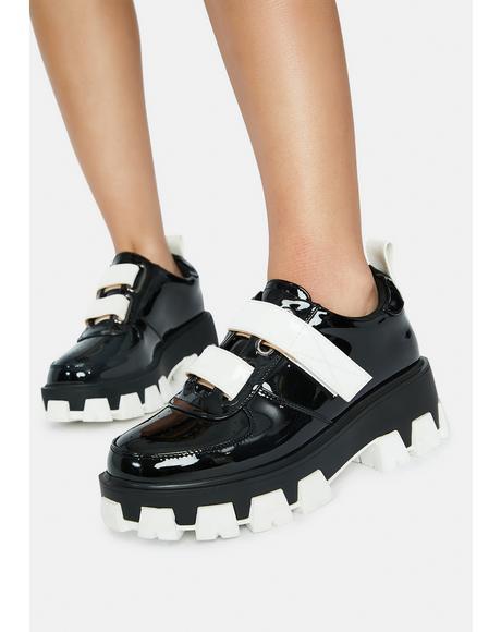 Noir Chamberlain Patent Sneakers