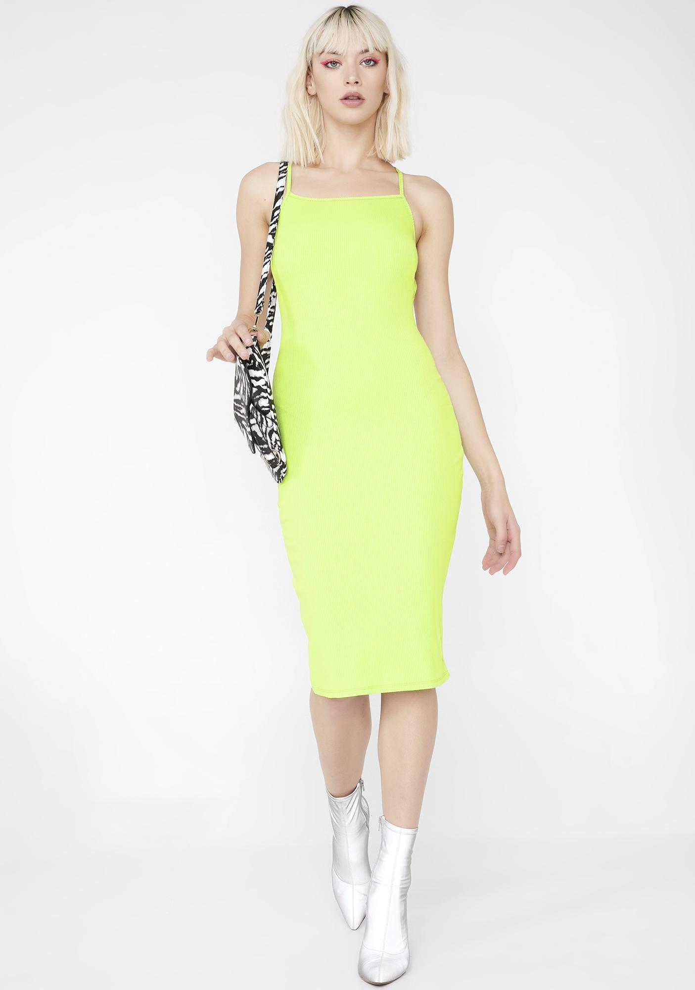 Acid Dimension Midi Dress