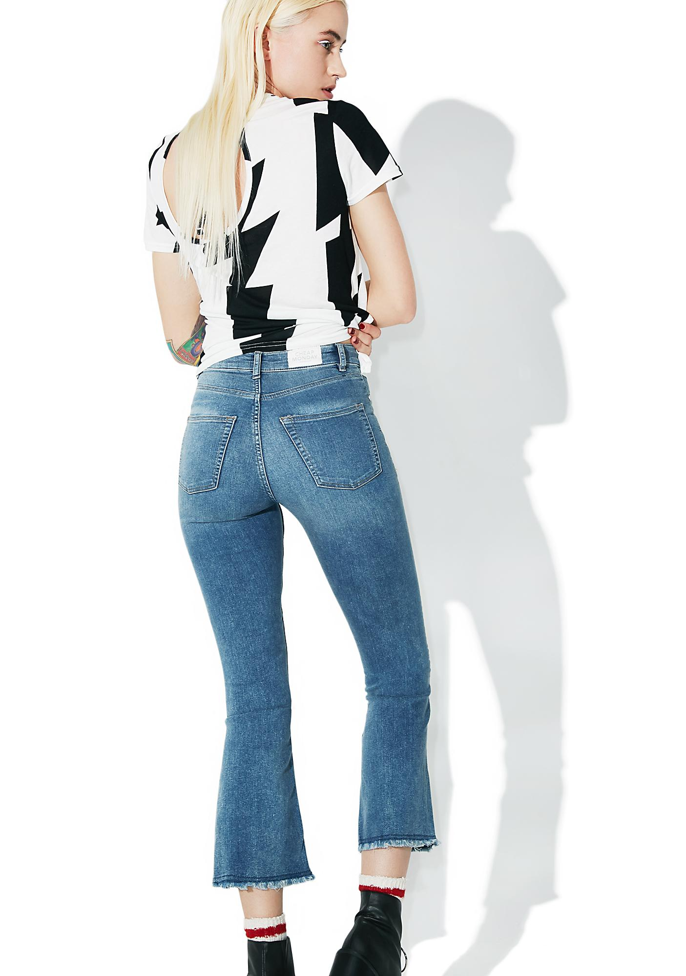 Cheap Monday Blue Noise Crop Jeans