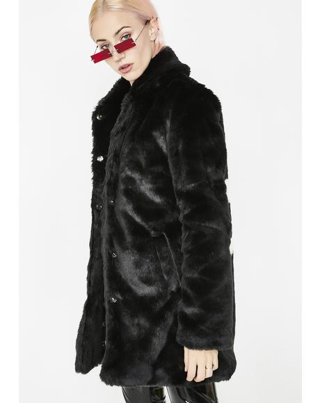Punk Tendencies Faux Fur Jacket