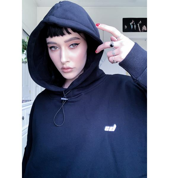 Criminal Damage Black Toggle Hoodie Sweatshirt