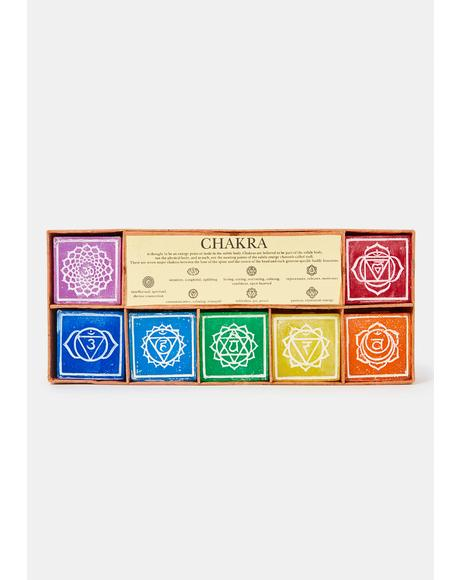 Positive Power Chakra Candle Set
