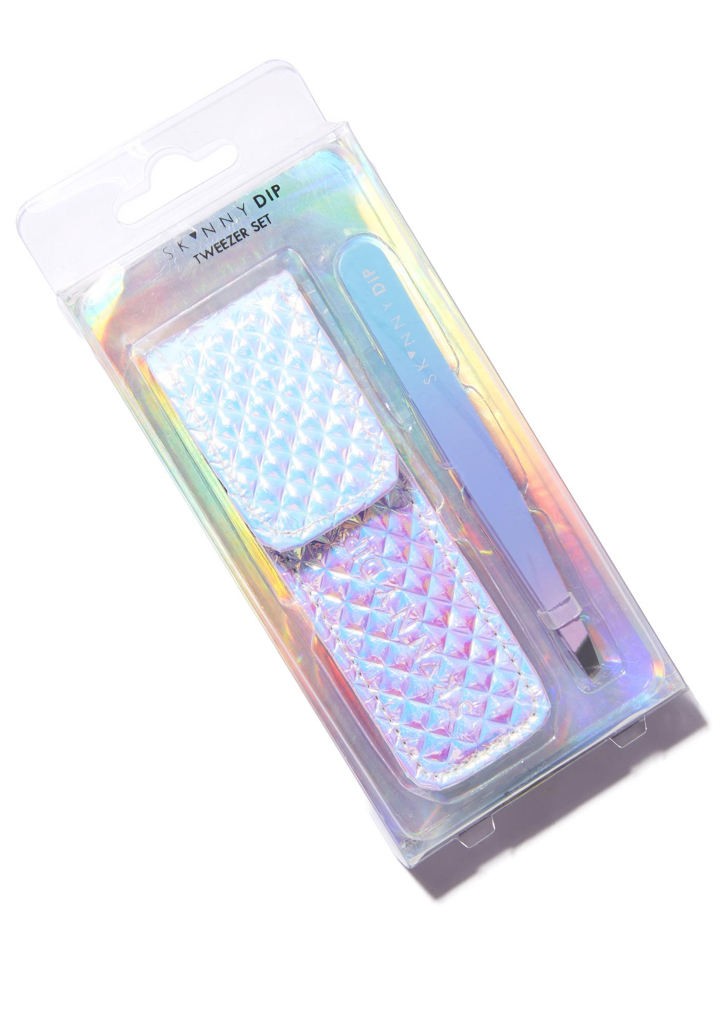 Skinnydip Ombre Tweezers With Holographic Pouch