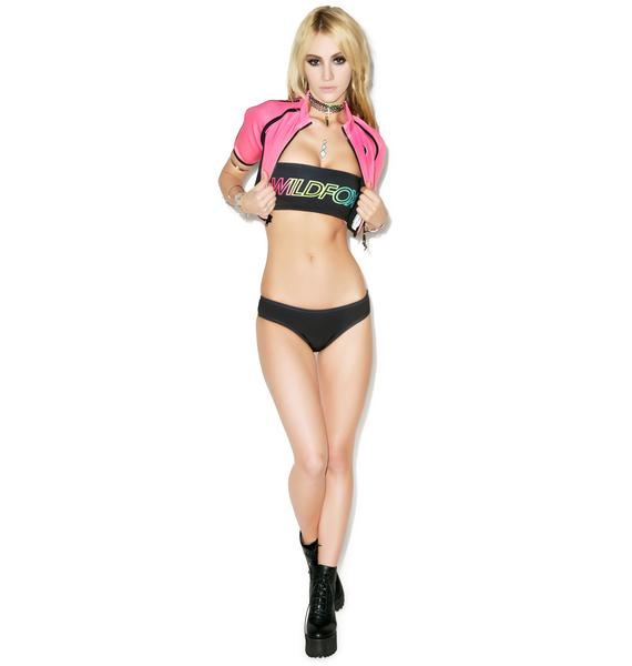 Wildfox Couture Rainbow Fox Reversible Bandeau Top