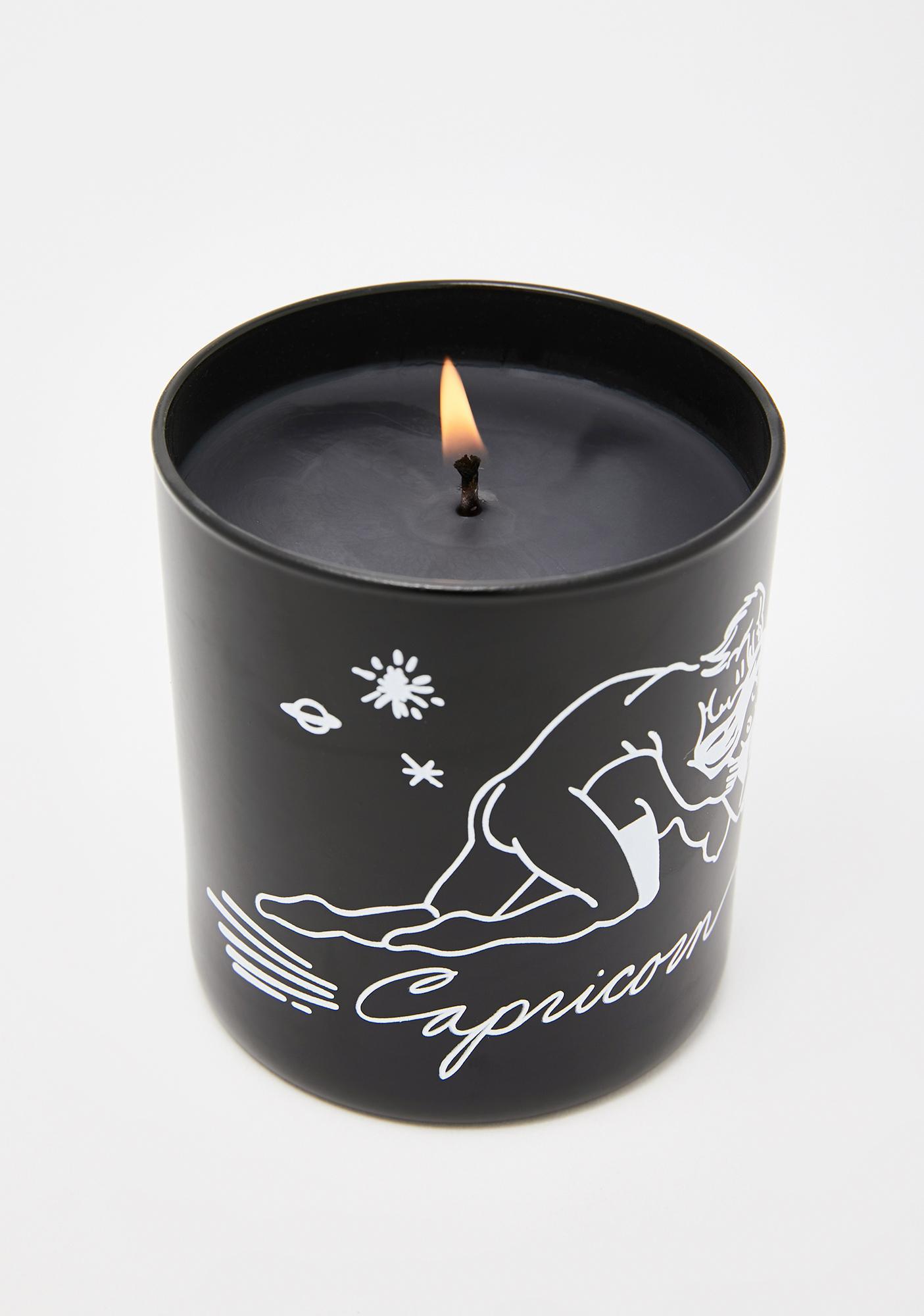 Black Cake Capricorn Zodiac Massage Candle