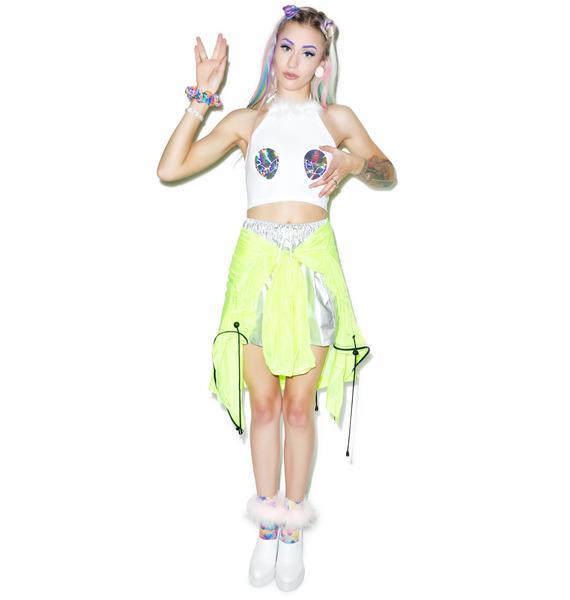 Jade Clark Fluff Alien Halter