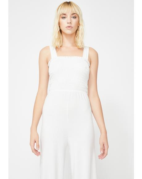 Icy Miss Mannered Wide Leg Jumpsuit