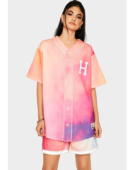 Coral Pink Classic H Reflective Baseball Jersey