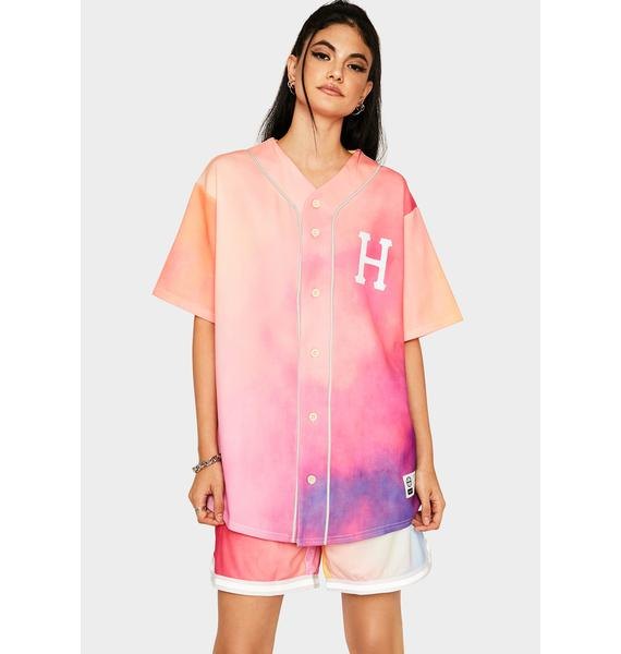 HUF Coral Pink Classic H Reflective Baseball Jersey