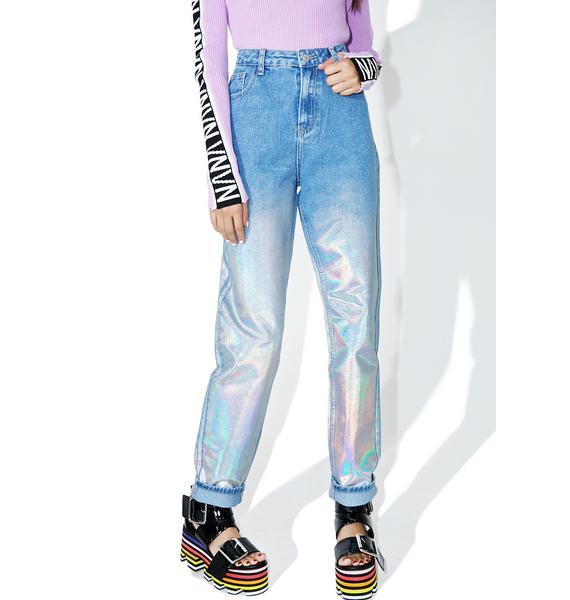 Glamorous Starcrush Holographic Jeans