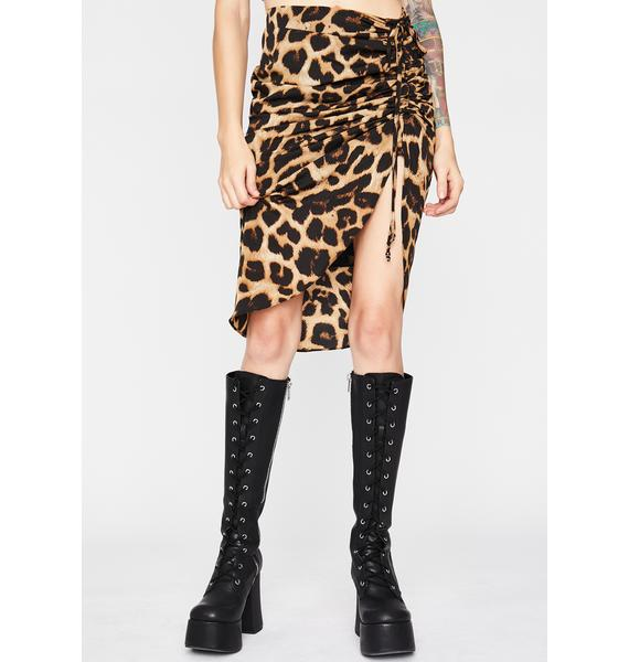 Rowdy Kitty Ruched Skirt