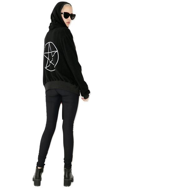Wildfox Couture Coven Girl Malibu Zip Up Sweatshirt
