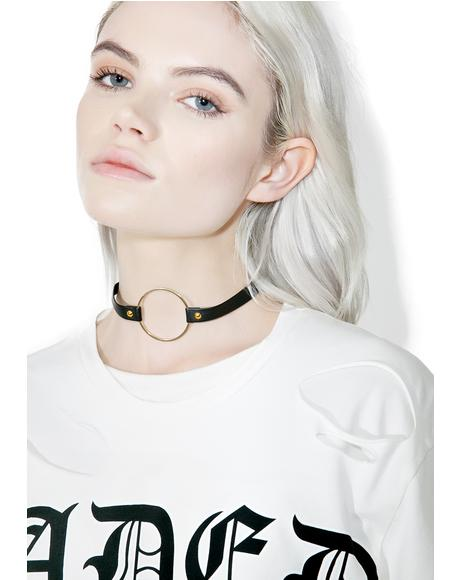 So Gold O-Ring Choker