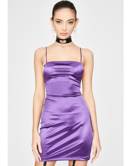 Purple Kozue Mini Dress
