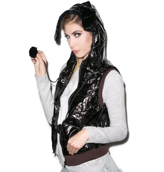 Snow Bunny Hooded Vest