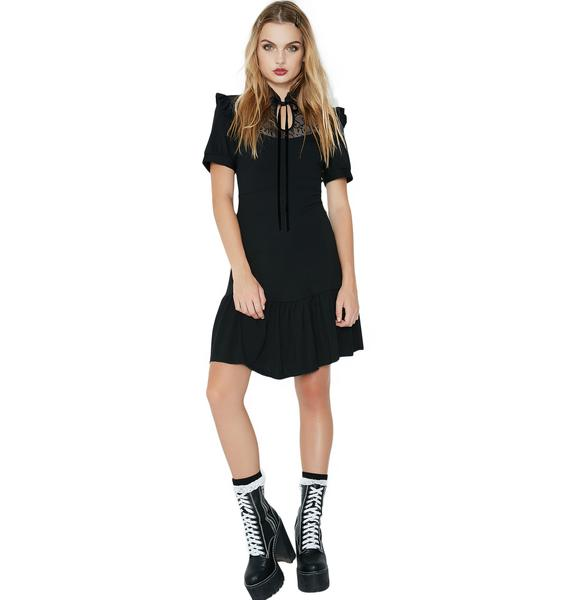 Killstar Raven Never-Ruffle Dress