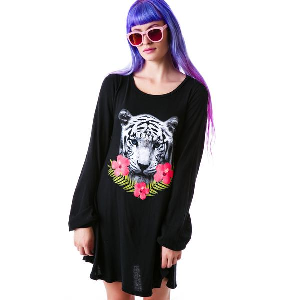 Wildfox Couture Tropical Tiger Martini Dress