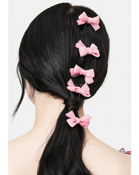 Sweet Serenity 5-Piece Bow Hair Pins Set