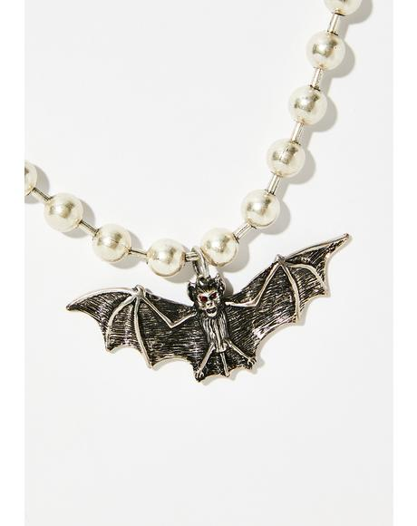 Bite Me Bat Necklace