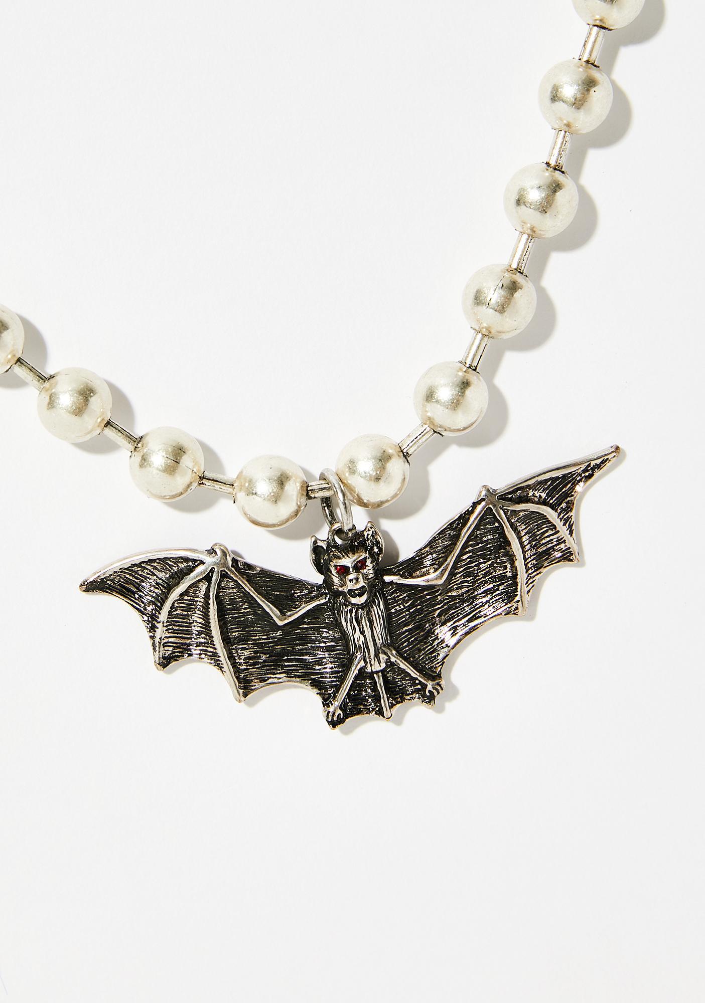 Bite Me Bat Necklace