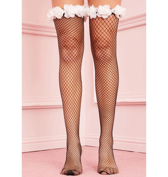 Kerry Parker Daisies At Dusk Fishnet Stockings