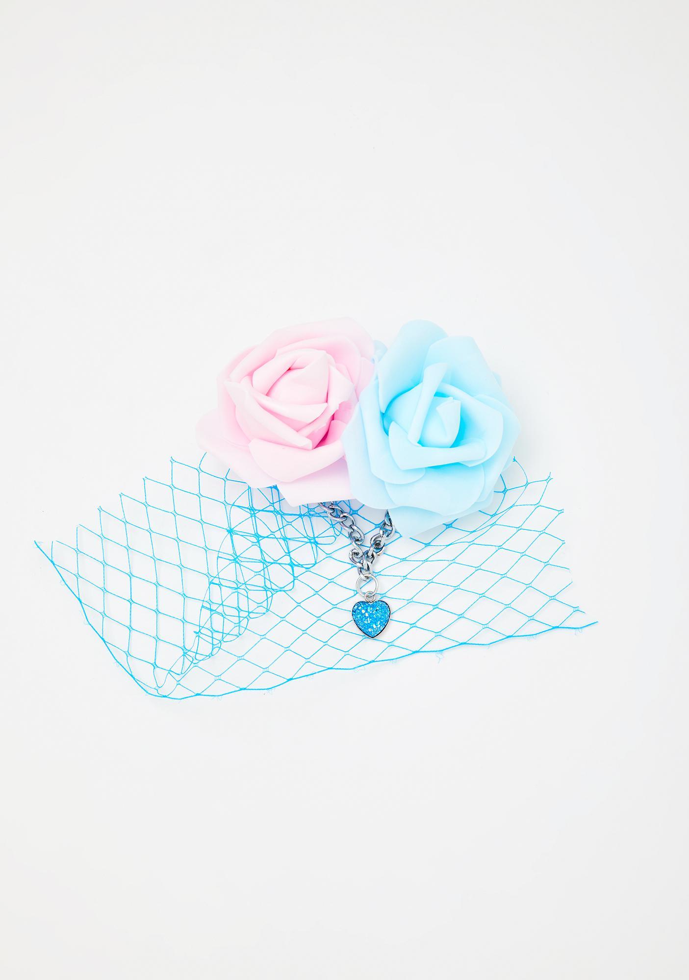 Devil666ish Blue Pastel Dreams Headpiece