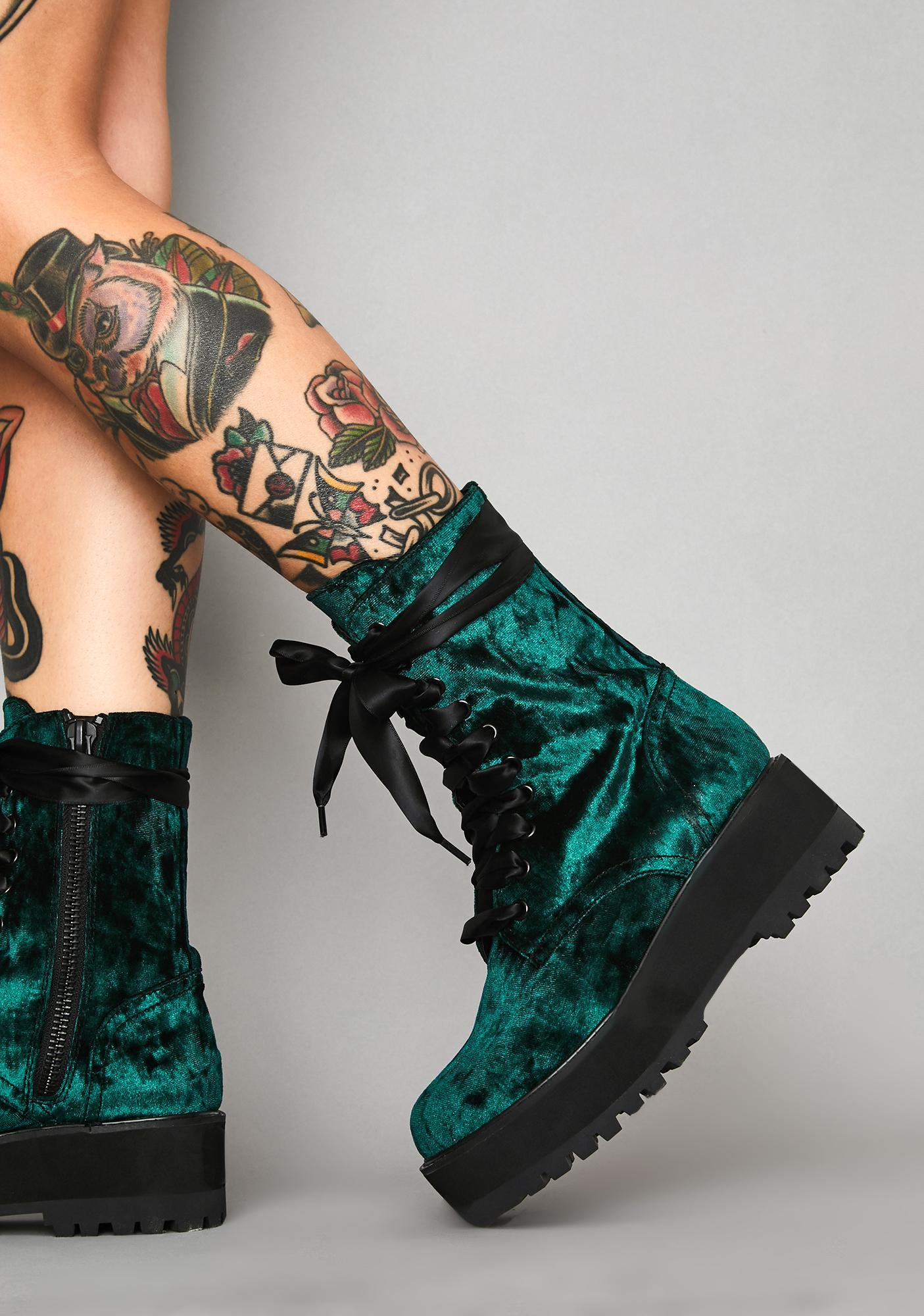 Victorian Romance Platform Boots