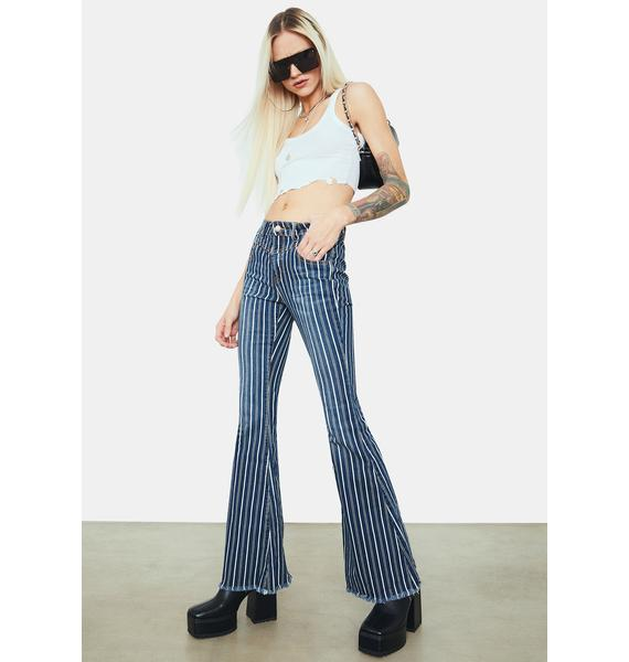 Cop My Style Mid Rise Stretch Flare Jeans
