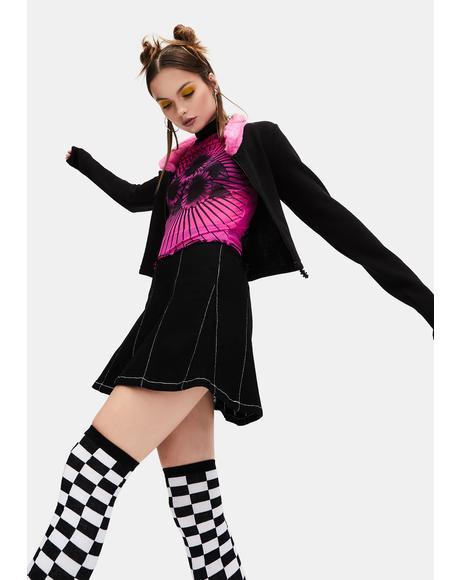 Destination Delay Twill Mini Skirt