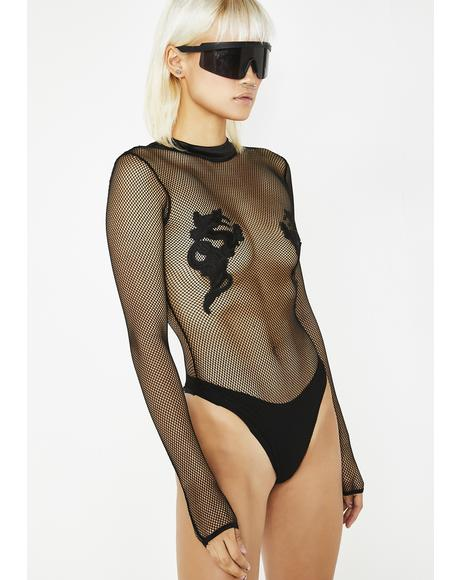 Bad Luck Dragon Long Sleeve Bodysuit