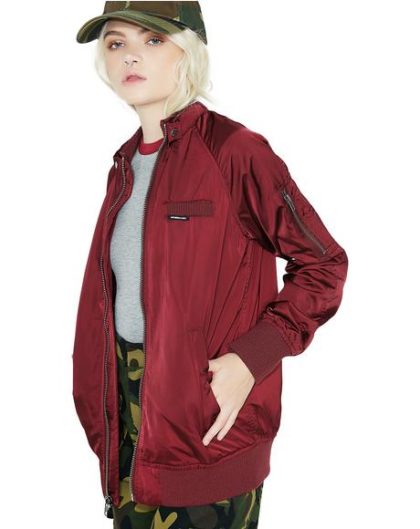 Satin Boyfriend Bomber Jacket