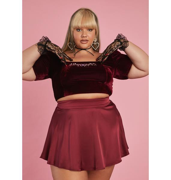 Sugar Thrillz Timeless Art Of Elegance Satin Skirt