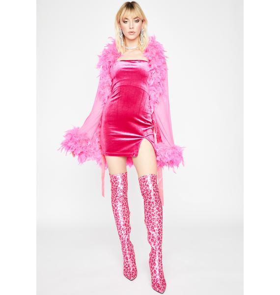 Pretty Sassy Society Velour Dress