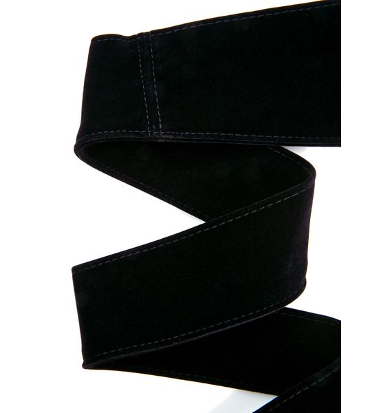 Dark Secret Velvet Wrap Belt
