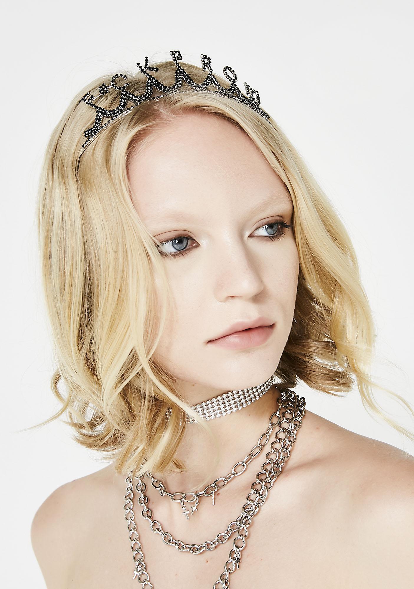 F Prom Rhinestone Tiara Dolls Kill