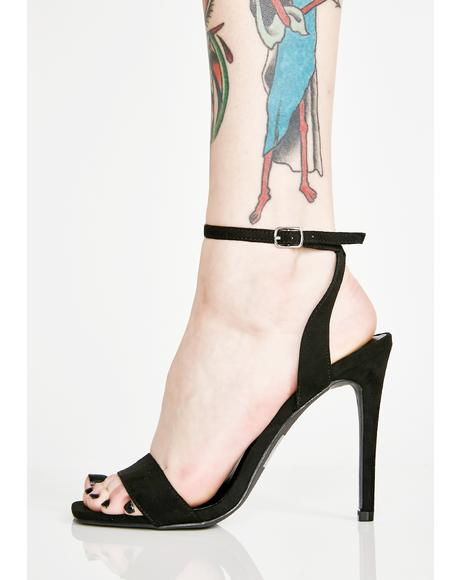 Midnight Fancy Huh Strappy Heels