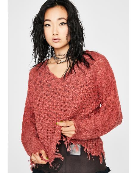 Rust Stress Test Knit Sweater