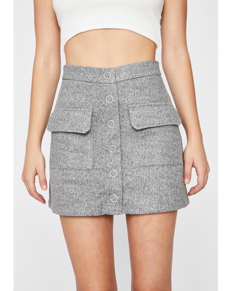 Dean's List Wool Skirt